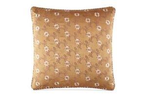 One WATERFORD LINENS Alhambra Reversible European Pillow Sham, GOLD - EUROPEAN