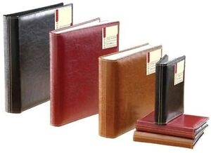 Leather-Look-Photo-Album-165mm-x-130mm-Holds-36-6-x-4-Photos-LGY-Black