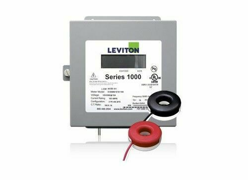 Leviton 1K240-1SW Indoor 120/240V Single Phase kWh Meter Kit, 100A, 2 Solid