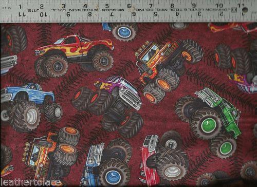 Monster truck fabric ebay for Monster truck fabric