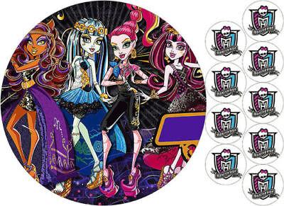 Tortenaufleger----Monster High---Geburtstag--Party--Tortenbild--Fondant //Oblate ()