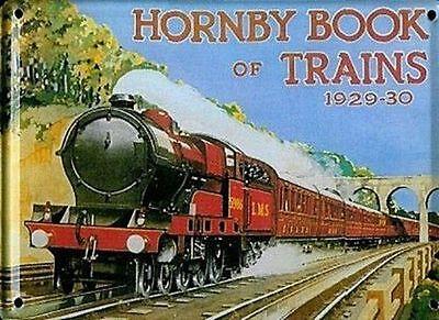 Hornby Book Of Trains 1929-30 embossed steel sign (hi 3020)