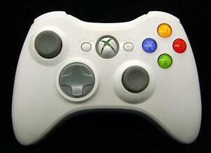 WHITE OFFICIAL XBOX 360 WIRELESS CONTROLLER $20 FIRM