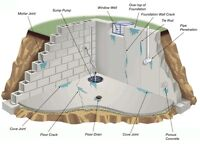 Basement concrete repairs, and placing and finishing services