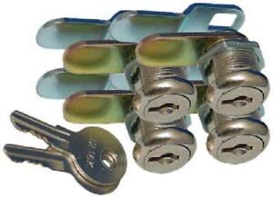 Rv Compartment Door Cam Lock Set 5/8 Inch Camper Trailer Motorhome Storage 4Pack