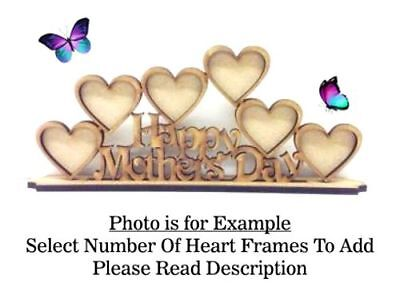 Happy Mothers Day Build Your Own Wooden MDF Photo Frame, Mum Mummy PL54 -OPTIONS](Happy Mothers Day Photos)