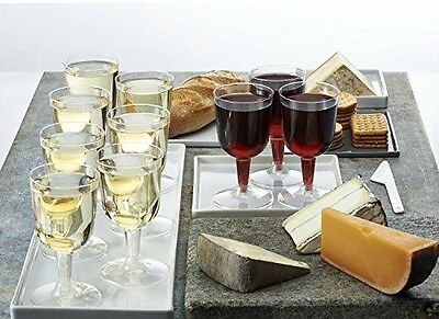 Disposable Wine Glasses 20 Ct Champagne Clear Plastic Cup Wine Tasting Party - Champagne Cups