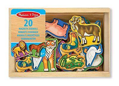Melissa & Doug Set Holztiermagneten 20 beliebte und bekannte Tiere Spielzeug