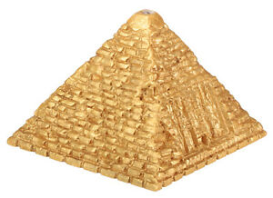EGYPTIAN-GOLDEN-FLASHING-LED-LIGHTED-PYRAMID-ANCIENT-EGYPT-SOUVENIR-NEW