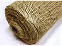 Erosion Control Natural Hessian Roll 200gsm