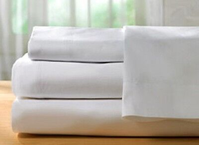 Organic Cotton White Sateen Bed Sheet Set USA Chemical Free Twin Full Queen King