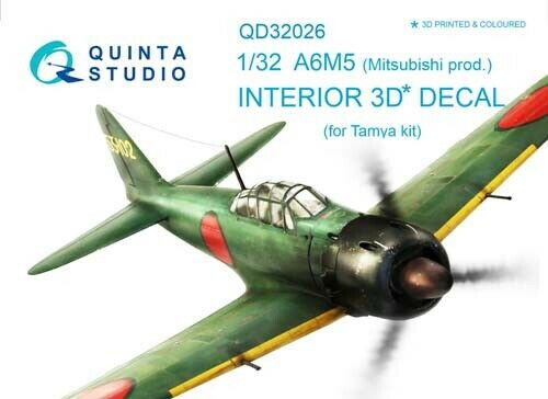 Quinta Studio QD32026 1/32 A6M5 (Mitsubishi) (TAM) Interior Set w/free shipping