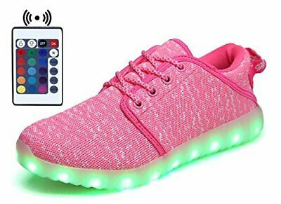 LED Light Up Shoes Flashing Sneaker for Girls Kids and Youth Remote Pink NIB