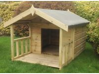 5x3 Apex Dog Kennel with veranda - FULLY T&G - Pressure treated timber- 10 year anti rot