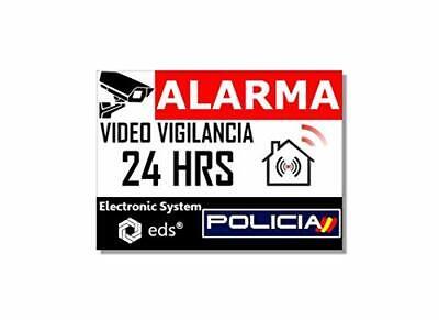 Pegatinas disuasorias Video Vigilancia Alarma Policia x8