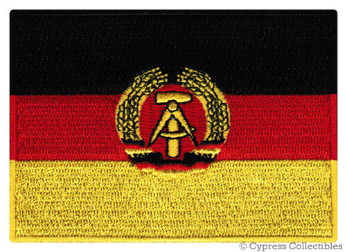 EAST GERMANY FLAG embroidered iron-on PATCH GERMAN DEMOCRATIC REPUBLIC EMBLEM