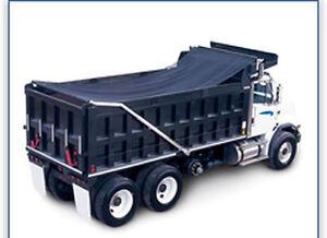 Heavy Duty Asphalt Solid Vinyl 8 X 18 Dump Truck Tarp