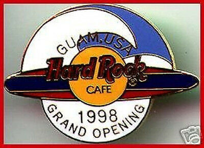 Hard Rock Cafe GUAM USA 1998 GRAND OPENING PIN Surfboard with Waves GO