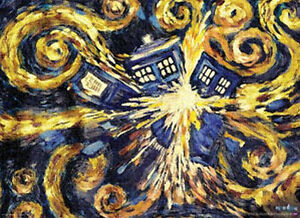 DOCTOR WHO - VAN GOGH EXPLODING TARDIS POSTER 24x36 - DR TV BBC 5117