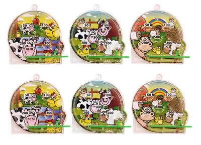 6 Farm Pinball Games - Pinata Toy Loot/Party Bag Fillers Wedding/Kids