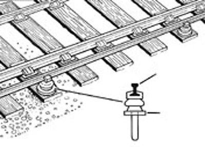 PECO IL-120 100 Conductor Rail Chairs Track Components 16