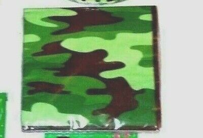 Camouflage Napkins Party Accessories Durable Paper 13