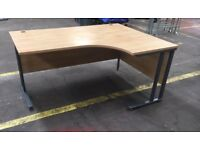 Corner-fitting office desk in good condition (2,3,4)