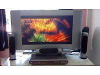 """32"""" HD TV Freeview HDMI and remote also Phillips dvd home cinema with sub Crewe cw1 £65 Ono offers"""