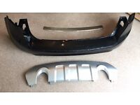 Ford Kuga 2009 rear bumper, lower diffuser and trim panel for bumper