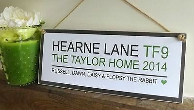 ( HANDMADE Personalised Home/Housewarming Plaque/Sign Friend Family Gift)