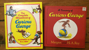 CURIOUS GEORGE COLLECTION 2 treasuries = 16 books $15