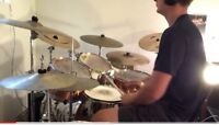 Progressive and adaptive rock and metal drummer available