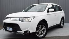 2014 Mitsubishi Outlander ZJ MY14.5 ES 4WD White 6 Speed Constant Variable Wagon Invermay Launceston Area Preview