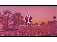 Tomorrowland Weekend 1 Magnificent Greens weekend pass with camping