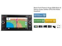 """Double Din Stereo 7"""" Ford Fiesta Bluetooth, aux, GPS, touchscreen, CD"""