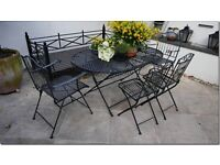 Bargain: Foldable Oval Outdoor Table (150x100 cm) plus 4 chairs. Priced for quick sale £95