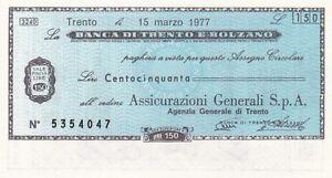 Italia banconota miniassegno anni 70 - Italia - L'oggetto può essere restituito - Italia