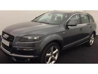 Grey AUDI Q7 3.0 TDI Diesel QUATTRO S LINE FROM £72 PER WEEK!