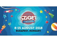 Ticket for Sziget festival with early entry and locker pass
