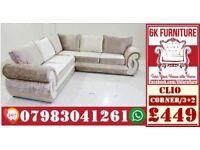 CHEAPEST PRICE *CLIO SOFA* LUXURY SOFA 3+2/Corner sofa SEATER 1845
