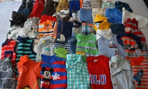 Used 41 Pc. Lot Of Newborn Baby Boy Clothes 3-6 Months Euc/vguc