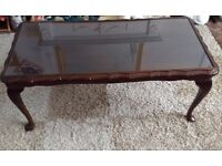 Glass top coffee table - Good condition - please view the image