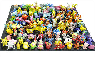 Cake Figurines Kids (48 PCS MINI POKEMON ACTION FIGURE FIGURINE CAKE TOPPER PARTY FAVOR TOY)
