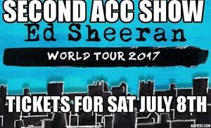 10 am  PRESALE-2ND SHOW ★★ED SHEERAN ★ ACC-SAT Jul 8th
