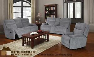 GREY CHINELLE MOTION SOFA SET (MA373)