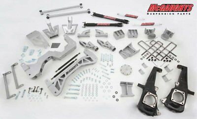 "McGaughy's Chevy GMC 3500 HD Diesel Dually 4WD 8 Lug 7"" Lift Kit 2011-2018 52351"