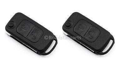 2x Schlüsselgehäuse Schlüssel Klappschlüssel Ersatz für Mercedes Benz MB #15