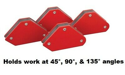 Chicago Electric 4pc Magnetic Welding Holders High Gloss Enamel Compact 93898