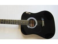 Lefthanded Acoustic Guitar Stagg SW201 LH BK