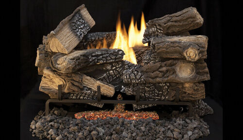"""Superior Fireplaces Gas Logs: Model LTF18MM, 18"""" Massive Mixed Oak. New In Box."""